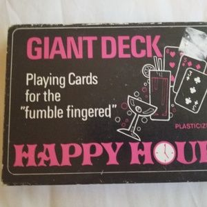 Other - GIANT DECK HAPPY HOUR Plasticized playing cards